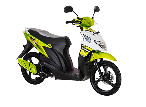 Suzuki Nex Fi Flash Green - Briliant White