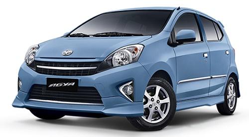 Toyota Agya Light Blue