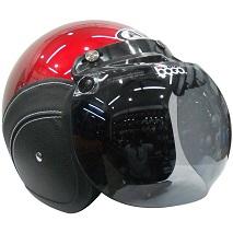 AVA Helmet Retro Bogo Merah