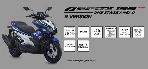 Fitur Yamaha Aerox 155 R Version