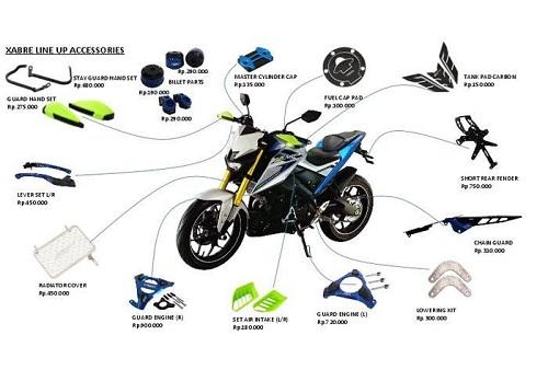 Daftar Harga Aksesoris Yamaha Xabre