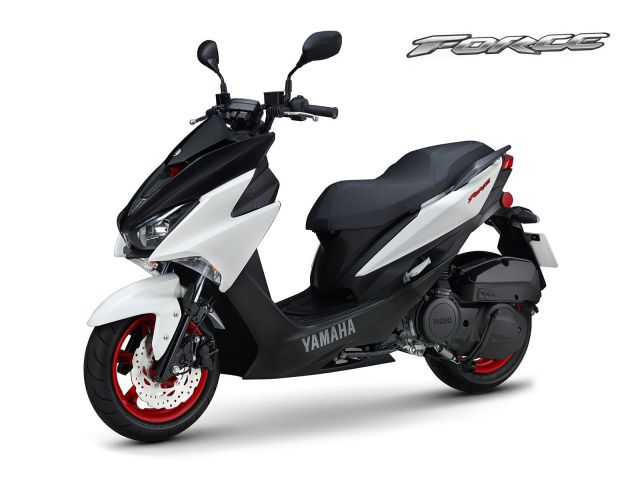 Warna Yamaha Force 155 White Dark Grey