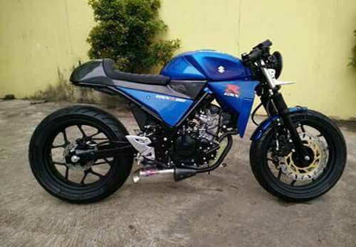 Modifikasi Suzuki GSX R150 Cafe Racer