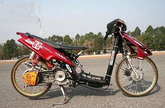 Gambar Modifikasi Mio Drag Bike