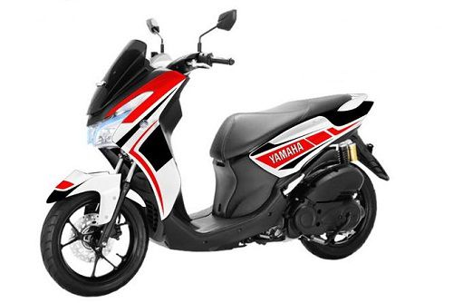 Modifikasi Yamaha Lexi 125 Decal 2