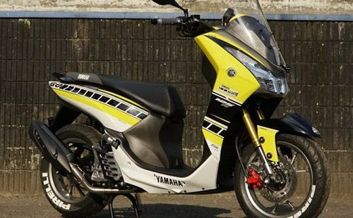 Modifikasi Yamaha Lexi 125 decal