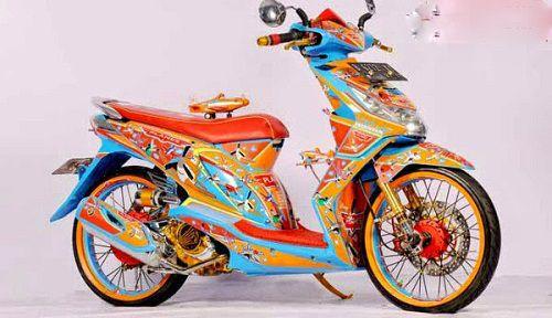 Modifikasi Honda Beat Airbrush