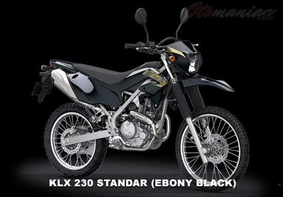 Gambar Motor KLX 230 Hitam