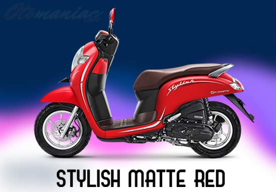 Warna Scoopy Merah