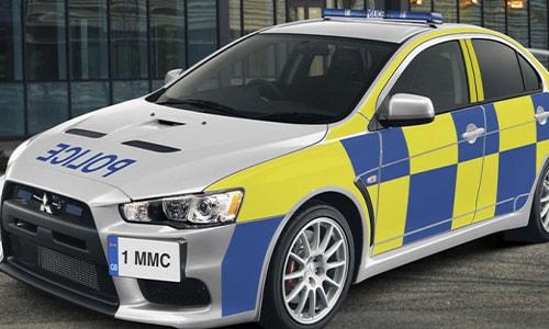 Mobil Polisi Tercepat Mitsubishi Lancer Evolution X