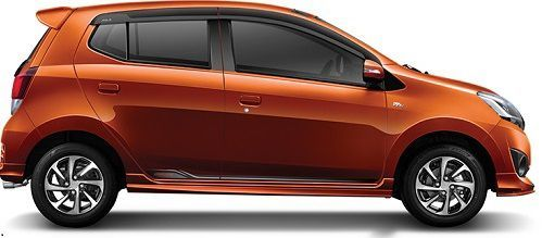New Daihatsu Ayla Orange Metallic